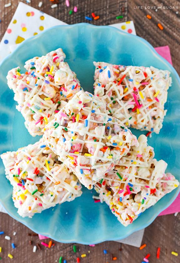 funfetti popcorn sprinkles