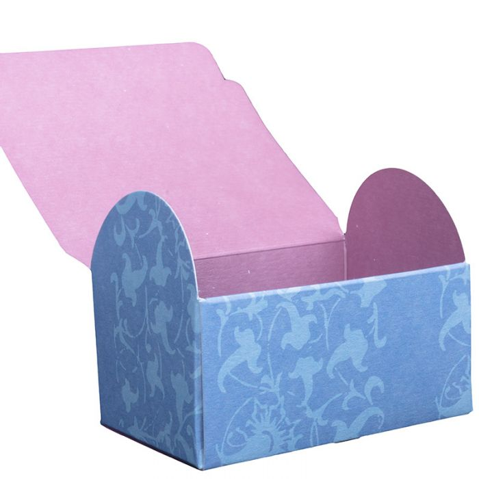 Paper Card Gift Boxes Blue Flower Box X 4