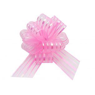 pink pom pom bow