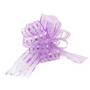 purple pom pom bow