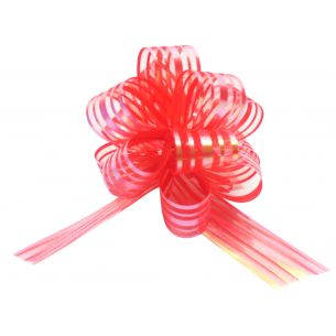 red pom pom bows small