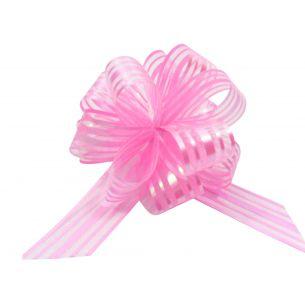 Pink Pom Pom Bow Small x 1