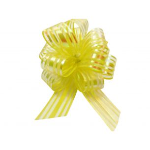 yellow pom pom bow
