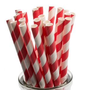 red striped cake pop straws