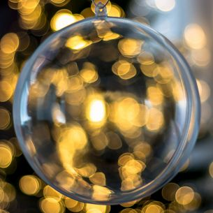 140mm Fillable Clear Bauble x 1