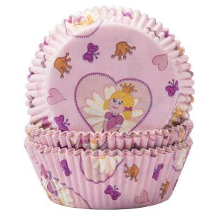 Pink Princess Butterflies Cupcake Cases x60