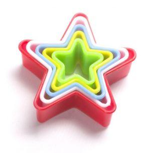 Multi Coloured Star Fondant Cookie Cutter Set