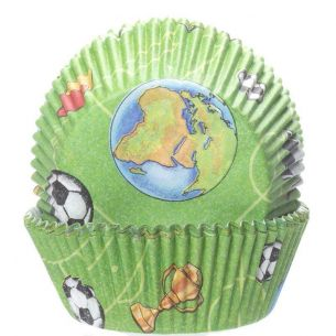 Football Cupcake Cases x60