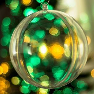 120mm Fillable Clear Bauble x 1