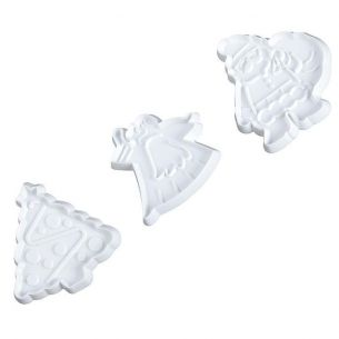 Fondant Cutter Set 3pcs Christmas Tree Santa Angel