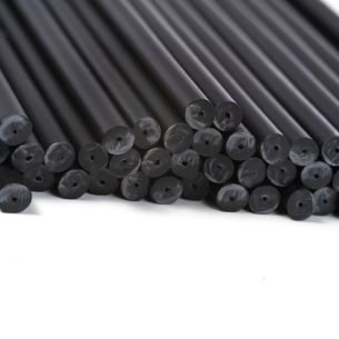 black plastic lollipop sticks