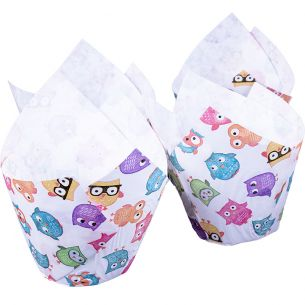 Owls Muffin Tulip Wraps x24