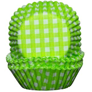 Cupcake Cases x60 Green and White