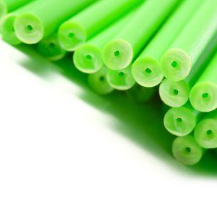 Green Plastic Lollipop Sticks