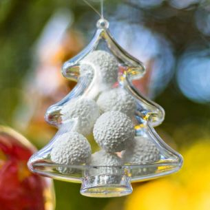 Fillable Tree Shaped Christmas Decoration x 1
