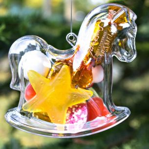 Fillable Rocking Horse Tree Decoration x 1