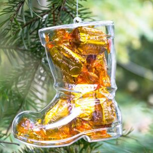 Fillable Santa Boot Decoration / Container x 1