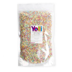 400g Coloured Sugar Strands Hundreds and Thousands Cake Sprinkles