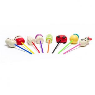 Mixed Plastic Lollipop Sticks