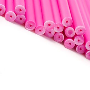 Pink Plastic Lollipop Sticks