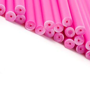 Pink Plastic Lollipop Sticks