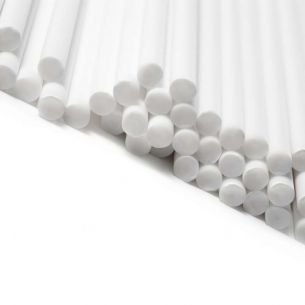 White Plastic Lollipop Sticks in Bulk Boxes
