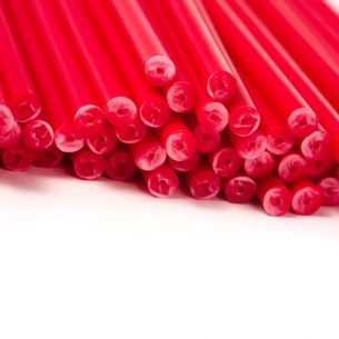 Red Plastic Lollipop Sticks