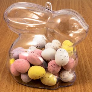 Easter Bunny Fillable Plastic Sweet Containers x 1