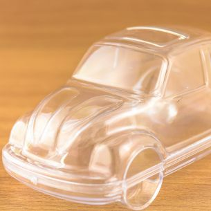 Car Shaped Fillable Transparent Plastic Container x 1