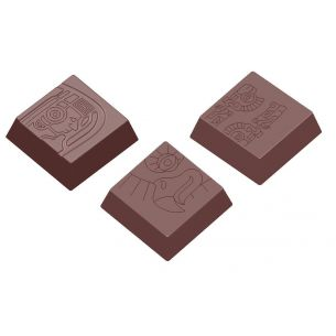Chocolate Mould Maya Praline Square 3 Fig.