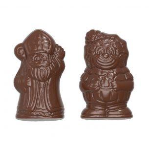 Chocolate Mould Karak Sinterklaas & Zwarte Piet 2 Fig.