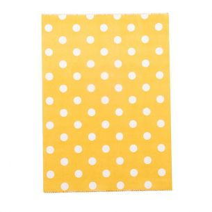 Small Polka Dots on Orange Paper Bags X 25