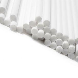 89mm x 4mm White Plastic Lollipop Sticks x 13,000 (NS)