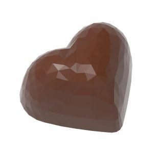 Chocolate Mould Heart Facet