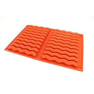zig zag pieces silicone chocolate