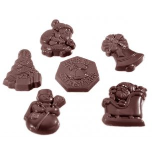 Chocolate Mould Karak Christmas Garnish 6 Fig.
