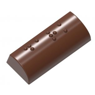 """Chocolate Mould Braille Praline """"Dark"""""""