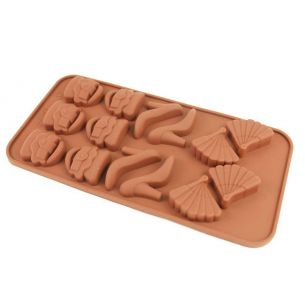 handbag shoes fan silicon chocolate mould