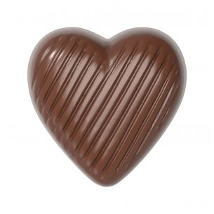 Chocolate Mould Heart Striped