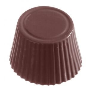 Chocolate shape cuvette round