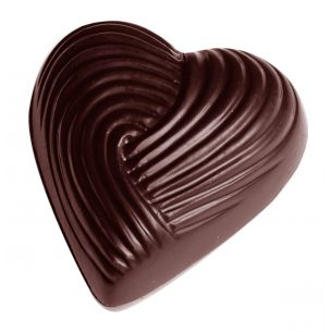 Chocolate Mould Heart Braided