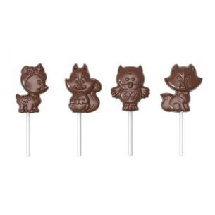 Chocolate Mould Lollipop Forest Animals