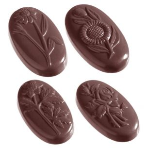 Chocolate Mould Flower Carac Oval 5 Fig.