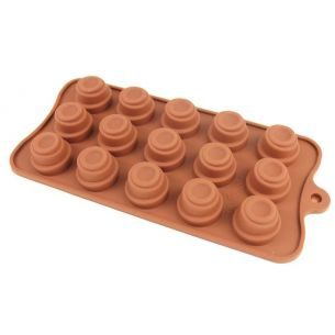 stacked circles silicone chocolate mould