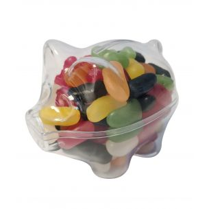 Pig Fillable Plastic Sweet Container Decoration Crafts