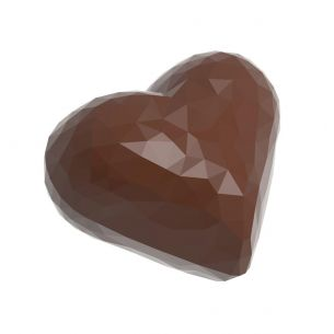 Chocolate Mould Heart Faceted Double