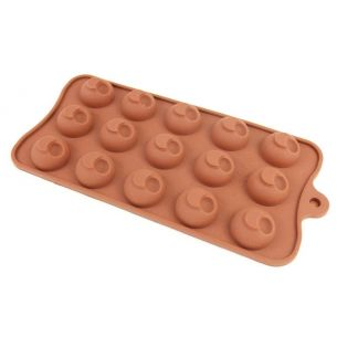 ball with side hole silicone chocolate mould