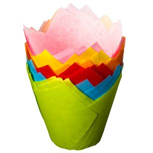 Tulip Cake Wraps Mixed Colours x 24