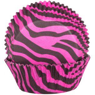 Pink Zebra Cupcake Cases x60