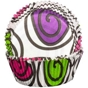Pink Green Purple Swirly Cupcake Cases x60